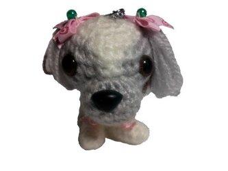 愛犬に似せてキーホルダー★誕生日プレゼント♡編みぐるみ人形003の画像
