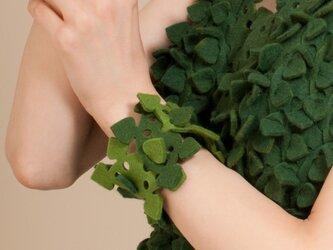 葉っぱブロックブレスレットの画像