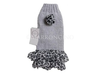 【犬のセーター】ヒョウ柄スカートワンピース〔#13-167〕の画像