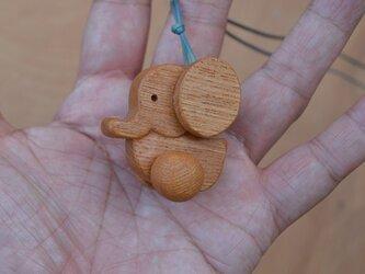 M様お取り置き作品 木の玩具ペンダント ゾウさん♪ の画像
