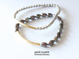 [新年限定]*pearl bracelet nh02*の画像