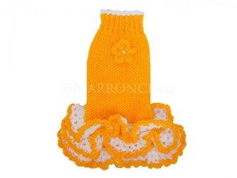 【犬のセーター】花*花フリルワンピース〔#13-219〕の画像
