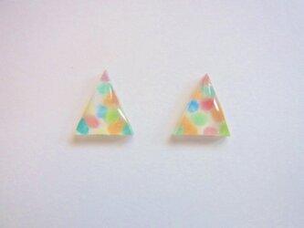 三角マーブルちびピアスの画像