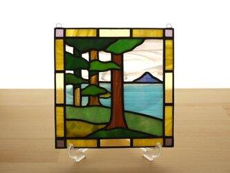 ステンドグラス ミニパネル 樹林 15cmの画像