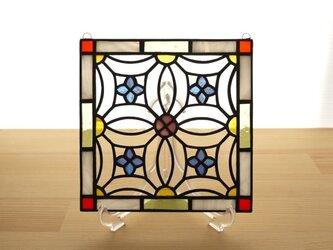 ステンドグラス ミニパネル 花模様 15cmの画像