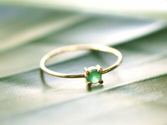 再販】K18エメラルドのリング ~Ritaの画像