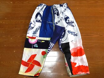 着物・浴衣リメイクサルエルパンツ 祭の画像