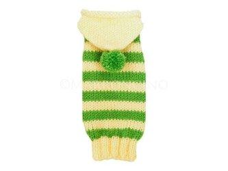 【犬のセーター】フード付きボーダーセーター〔#13-440〕の画像