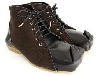 SQUARE boots #natural leather #micro-fiber #受注製作の画像