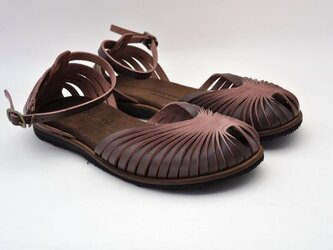 Tokuyama Shoes『ballet sandals』dark-brown leatherの画像