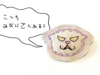 【お値下げ♪】04 伏せ耳お怒りネコブローチの画像