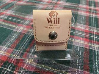 ヌメ革のミニコインケースの画像