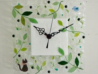 【オーダー制作】壁掛け時計(森の小道)の画像