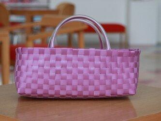 【プライスダウン】プラスチックかご〈ベーシック 紫〉の画像