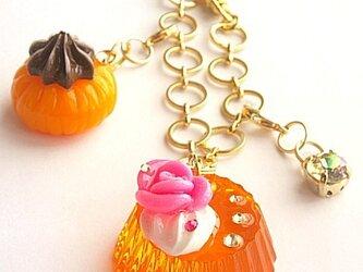 虹色シリーズ ゼリーのチャーム(オレンジ)の画像