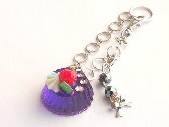 虹色シリーズ ゼリーのチャーム(紫)の画像