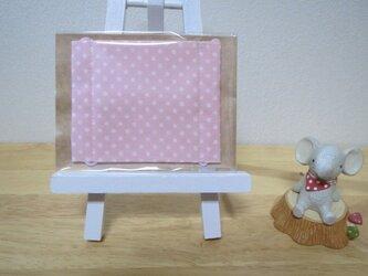 子供マスクSサイズ  ドット ピンクの画像