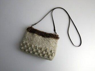 パプコーン編みポシェットの画像