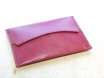 革のポケットティッシュカバー(赤紫:ワインレッド)の画像