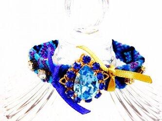 X'masSALE★ミサンガブレスデニムブルー#16の画像