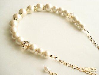 コットンパールxロンデルのネックレスの画像