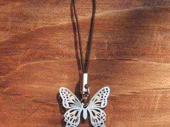 cometman 透かし 蝶(チョウ)の羽のストラップの画像