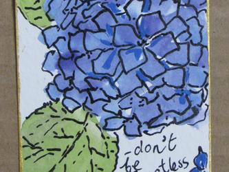 アジサイの水彩絵の画像