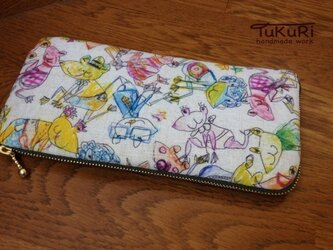 【再販】ド派手なかえるたちの長財布の画像