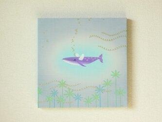 手染め 絹紬パネル 「 ゆったり飛行 」 の画像