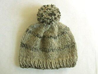 SALE 手紡ぎ糸のニット帽 N-307の画像