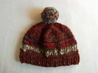 SALE 手紡ぎ糸のニット帽 N-290の画像