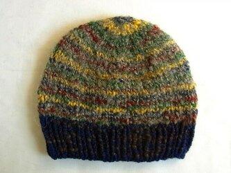 SALE 手紡ぎ糸のニット帽 N-130の画像