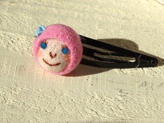 髪留め おんなのこ〈ピンク〉の画像