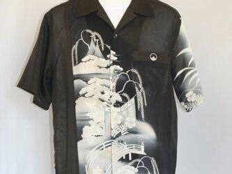 アンティーク リメイクアロハ 黒留袖の画像
