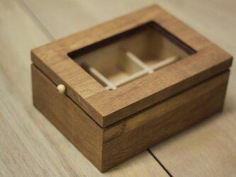 木のジュエリーボックスの画像