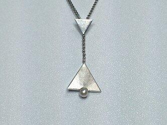 triangle△パール ネックレスの画像