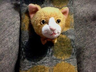 猫(やまぶき色)携帯ケースの画像