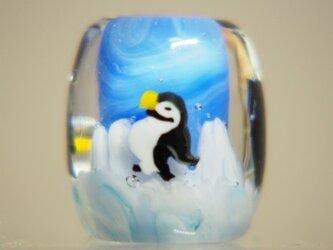 とんぼ玉 南極ペンギンの画像