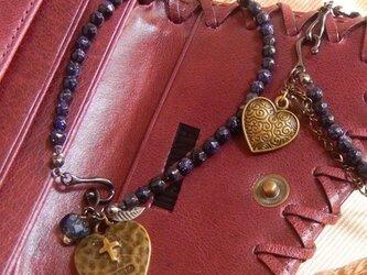 bracelet(CrossHeart)ゴールドストーンの画像