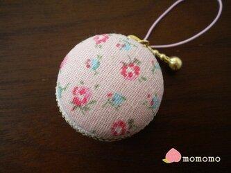 小花柄♪マカロンコインケース ストラップの画像