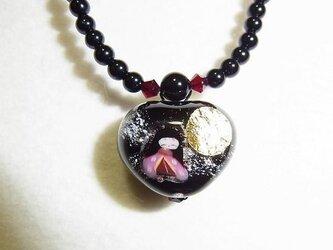 かぐや姫のハートのネックレス(小)の画像