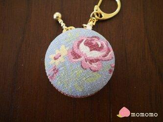 花柄♪マカロンコインケース キーホルダーの画像