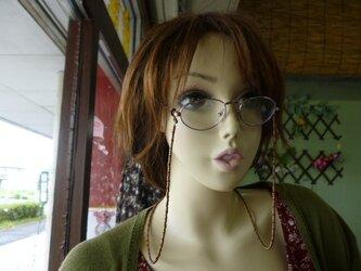 丸大ビーズ 眼鏡ストラップの画像