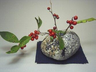 石の花生け 石輪挿し K-29の画像