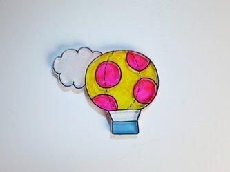 水玉気球 ブローチ(気球ワールド)の画像