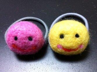 にこchanへアゴム/ピンクの画像