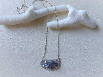 チャルコパイライトの原石ビーンズネックレス SV925の画像