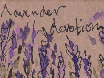 ミニチュアの水彩絵 「ラベンダー」の画像