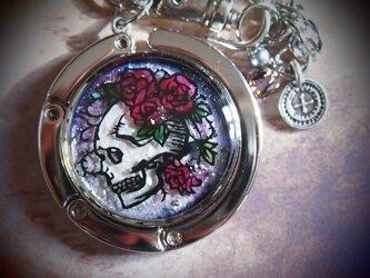 薔薇と髑髏のバッグハンガーの画像