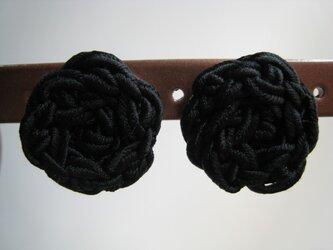 SILKコードイヤリング(BLACK)の画像